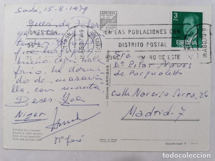 Postales: POSTAL SADA, PUERTO Y VISTA PARCIAL, AÑOS 70 - Foto 2 - 244467040