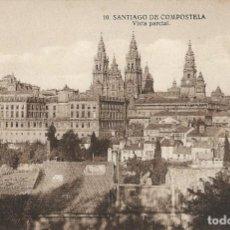 Postales: POSTAL ANTIGUA DE SANTIAGO DE COMPOSTELA, VISTA PARCIAL. GALICIA. Lote 244649805