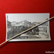 Postales: MONFORTE DE LEMOS.LUGO, PLAZA DE ESPAÑA.MUY RARA.SIN CIRCULAR. Lote 244653590
