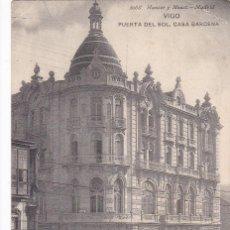 Postales: PONTEVEDRA, VIGO, PUERTA DEL SOL CASA BARCENA. ED. HAUSER Y MENET Nº 2068. SIN CIRCULAR. Lote 244741740