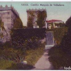 Postales: VIGO (PONTEVEDRA): CASTILLO MARQUÉS DE VALLADARES. PAPELERÍA TAFALL. NO CIRCULADA (AÑOS 10). Lote 244970980
