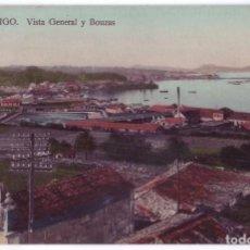 Postales: VIGO (PONTEVEDRA): VISTA GENERAL Y BOUZAS. PAPELERÍA TAFALL. NO CIRCULADA (AÑOS 10). Lote 244971150