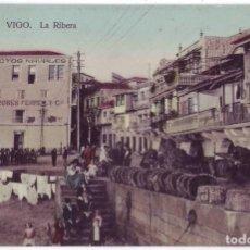Postales: VIGO (PONTEVEDRA): LA RIBERA. PAPELERÍA TAFALL. NO CIRCULADA (AÑOS 10). Lote 244971480