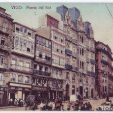 Postales: VIGO (PONTEVEDRA): PUERTA DEL SOL. PAPELERÍA TAFALL. NO CIRCULADA (AÑOS 10). Lote 244971740