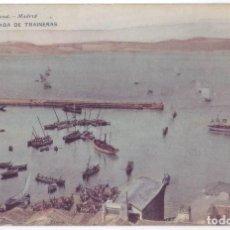 Postales: VIGO (PONTEVEDRA): LLEGADA DE TRAINERAS. HAUSER Y MENET. REVERSO SIN DIVIDIR (ANTERIOR A 1905). Lote 244973735