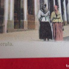 Postales: TARJETA POSTAL ANTIGUA,COLOREADA,SOBRE 1920,CALLE PANADERAS LA CORUÑA SIN CIRCULAR. Lote 245008490