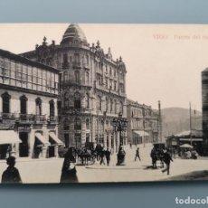 Postales: POSTAL VIGO PUERTA DEL SOL PAPELERIA TAFALL PONTEVEDRA GALICIA COCHES CABALLOS PERFECTA CONSERV. Lote 245089390
