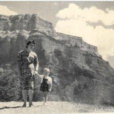 Postales: == HH706 - FOTOGRAFIA - SEÑORA CON SU NIÑO - ORDESA 1958. Lote 245510735