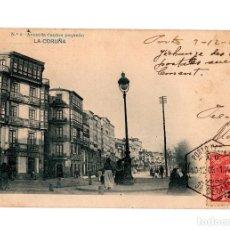 Postales: LA CORUÑA.- AVENIDA CANTÓN PEQUEÑO. LAURENT MADRID.. Lote 247361390