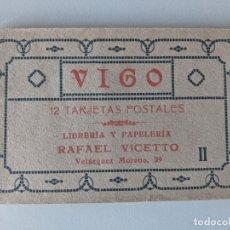 Postales: 1916 RARISIMO BLOC ALBUM DE 12 POSTALES DE VIGO RAFAEL VICCETTO IMPRESAS POR HAUSER Y MENET. Lote 250154150
