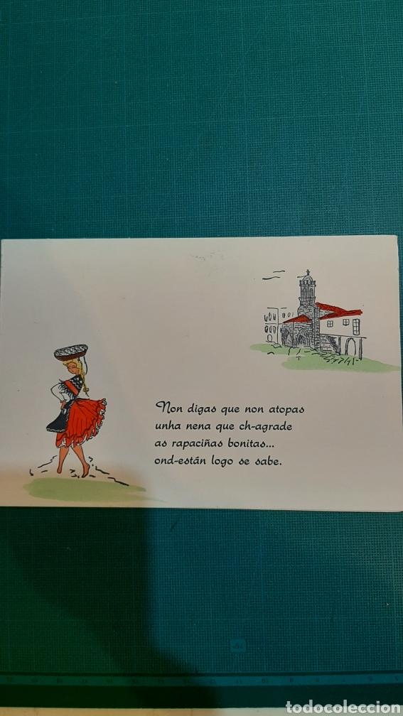 OOSTAL VINTAGE GALLEGA PONTEVEDRA NIN DIGAS QUE NON ATOPAS UNHA NENA (Postales - España - Galicia Moderna (desde 1940))