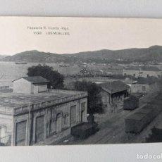 Postales: 1910 VIGO - LOS MUELLES - VAGONES FERROCARRIL - PAPELERIA R.VICETTO - HAUSER Y MENET - IMPECABLE. Lote 252144750