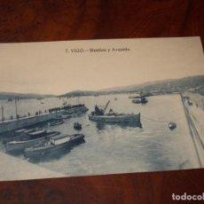 Cartoline: 7. VIGO MUELLES Y AVENIDA, SIN CIRCULAR. Lote 252293985