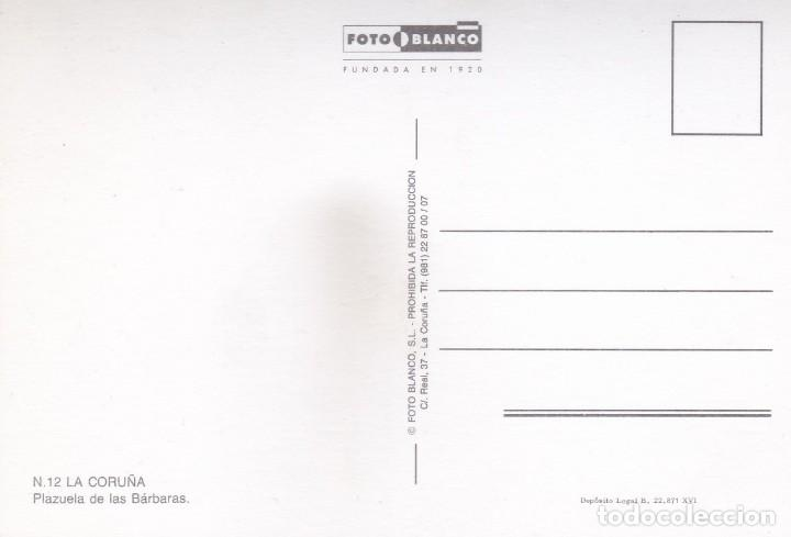 Postales: POSTAL PLAZUELA DE LAS BARBARAS. LA CORUÑA (1973) - Foto 2 - 253556615