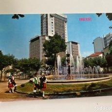 Postales: TARJETA POSTAL. ORENSE. 543.- FUENTE LUMINOSA Y TORRE DE ORENSE. EDICIONES PARIS - J.M.. Lote 253916810