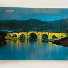 Postales: TARJETA POSTAL. ORENSE. 549.- PUENTE ROMANO. NOCTURNA. EDICIONES PARIS - J.M.. Lote 253916915
