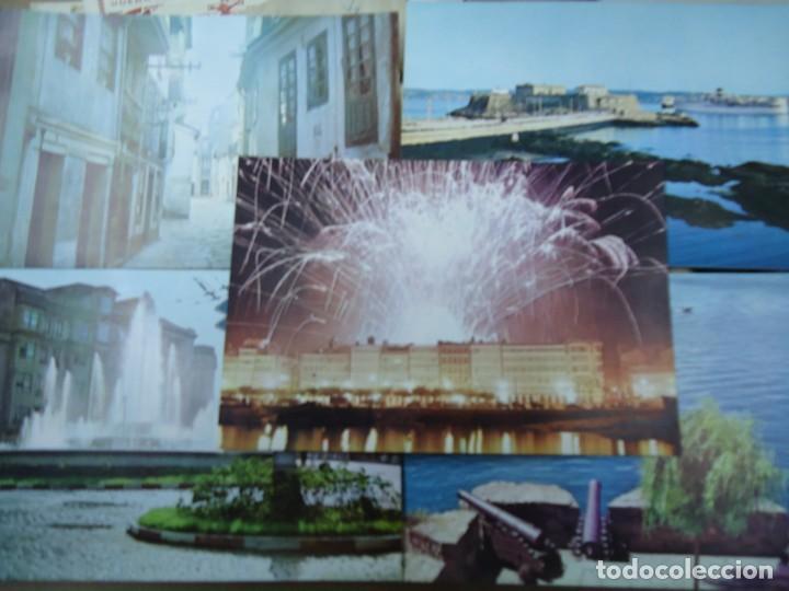 Postales: lote de 5 POSTALES DE LA CORUÑA 1966 EDITADAS POR SEIX BARRAL EN BARCELONA MIDE 14,5 10 cm. RARAS - Foto 2 - 254940640