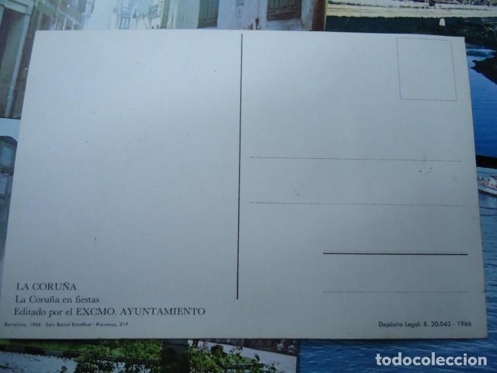 Postales: lote de 5 POSTALES DE LA CORUÑA 1966 EDITADAS POR SEIX BARRAL EN BARCELONA MIDE 14,5 10 cm. RARAS - Foto 3 - 254940640