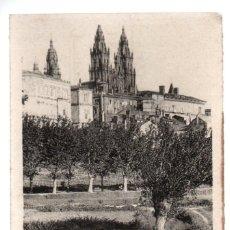 Postales: POSTAL, 99 - SANTIAGO DE COMPOSTELA - VISTA ARTISTICA. M. R. 55425. ESCRITA.. Lote 255943015