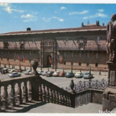 Postales: EM0755 SANTIAGO DE COMPOSTELA HOSTAL DE LOS REYES CATOLICOS 1974 PERLA Nº3216 COCHES. Lote 257926295