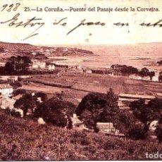 Postales: LA CORUÑA - PUENTE DEL PASAJE DESDE LA CORVEIRA. Lote 258234210