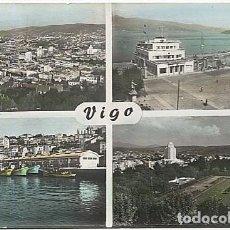 Postales: 125295 GALICIA PONTEVEDRA VIGO VISTA PARCIAL REAL CLUB NAUTICO EL BERBES JARDINES DEL CASTRO MULTIVI. Lote 259984625