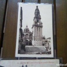 Postales: SANTIAGO DE COMPOSTELA 2 POSTALES ANTIGUAS Y DIFICILES. Lote 260623505