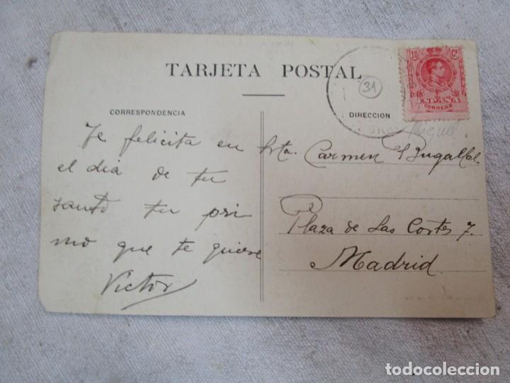 Postales: POSTAL CIRCULADA PUENTEAREAS PONTE AREAS Nº6 - GRUPO ESCOLAR, EDI PEDRO ESTEVEZ + INFO - Foto 2 - 261015455
