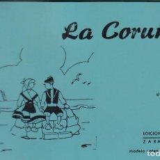 Postales: LA CORUÑA. BLOC COMPLETO CON 10 POSTALES FOTOGRAFICAS. ED. LUJO. Lote 262001125