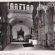 Postales: LA CORUÑA SANTIAGO DE COMPOSTELA HOSPITAL REAL IGLESIA. ED. FOTO ROISIN Nº 36. SIN CIRCULAR. Lote 263070085