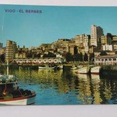 Postales: POSTAL 3.309 VIGO VISTA PARCIAL. PUERTO PESQUERO. BERBÉS. Lote 265202704