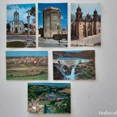 Postales: 6 POSTALES DE MONDOÑEDO, VILLALBA, CHANTA Y MONASTERIO DE SAMOS. Lote 266566348