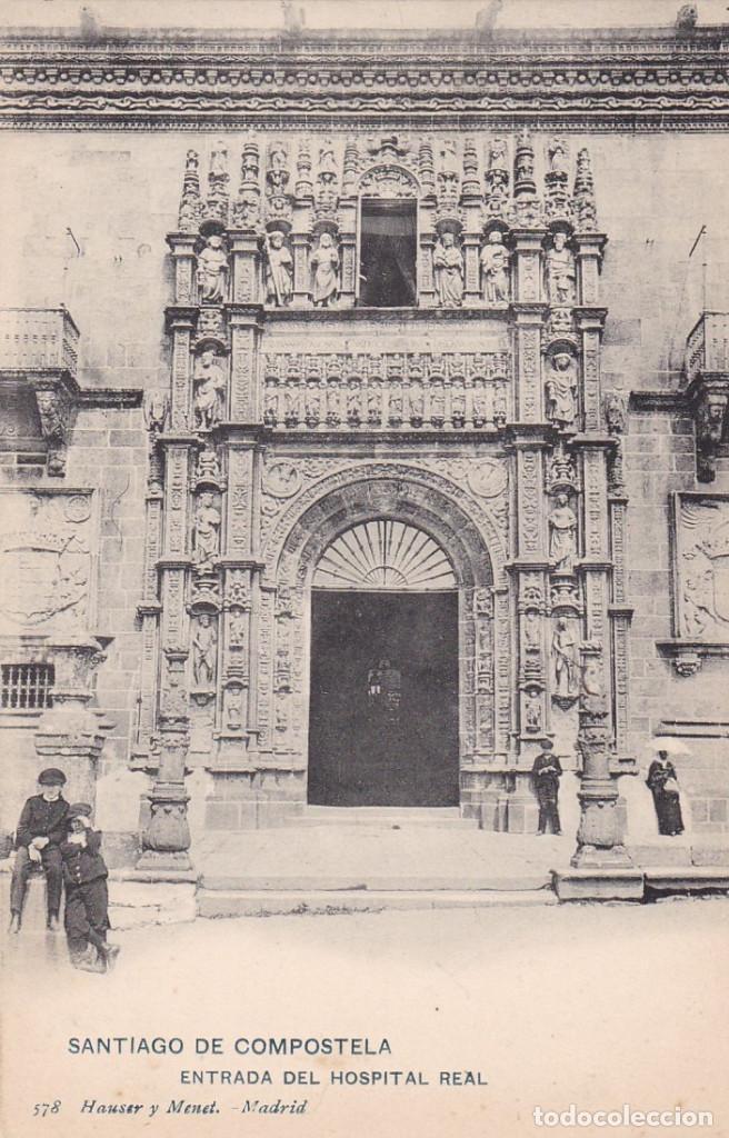 LA CORUÑA SANTIAGO DE COMPOSTELA. ED. HAUSER Y MENET Nº 578. REVERSO SIN DIVIDIR. SIN CIRCULAR (Postales - España - Galicia Antigua (hasta 1939))
