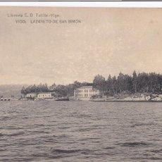 Postales: PONTEVEDRA VIGO LAZARETO SAN SIMON. ED. E.B. TETILLA, HAUSER Y MENET. SIN CIRCULAR. Lote 267515719