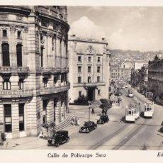 Postales: PONTEVEDRA VIGO CALLE POLICARPIO SANZ (TRANVIA). ED. BALMES Nº 35. SIN CIRCULAR. Lote 267516834