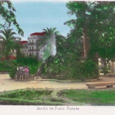 Postales: ORENSE JARDIN DE POSIO FUENTE. ED. ARRIBAS Nº 19. BYN COLOREADA. SIN CIRCULAR. Lote 267517029