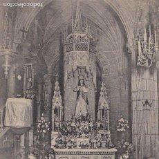 Postales: PONTEVEDRA ALTAR IMAGEN PURISIMA CONCEPCION. ED. BENITO PEREZ, E.J.C. PARIS IRUN. ESCRITA EN 1909. Lote 267517779