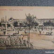 Postales: LA CORUÑA PASEO DE MÉNDEZ NÚÑEZ - POSTAL ANTIGUA FOTOTIPIA CASTAÑEIRA. Lote 267547194