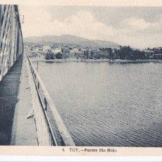 Cartes Postales: PONTEVEDRA PUENTE RIO MIÑO. ED. FOTO ROISIN Nº 4. ESCRITA. Lote 267652559