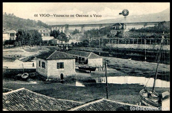 VIGO. VIADUCTO DE ORENSE A VIGO. ED. TAFALL Nº 44. PONTEVEDRA. GALICIA. POSTAL. (Postales - España - Galicia Antigua (hasta 1939))