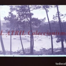 Postales: BAYONA, PONTEVEDRA CLICHE ORIGINAL NEGATIVO EN CELULOIDE AÑOS 1910-20 - FOTOTIP. THOMAS, BARCELONA. Lote 268268864