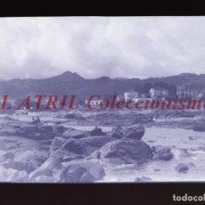Postales: BAYONA, PONTEVEDRA CLICHE ORIGINAL NEGATIVO EN CELULOIDE AÑOS 1910-20 - FOTOTIP. THOMAS, BARCELONA. Lote 268268904