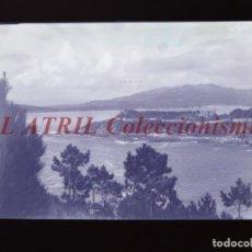Postales: BAYONA, PONTEVEDRA CLICHE ORIGINAL NEGATIVO EN CELULOIDE AÑOS 1910-20 - FOTOTIP. THOMAS, BARCELONA. Lote 268269454