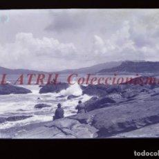 Postales: BAYONA, PONTEVEDRA CLICHE ORIGINAL NEGATIVO EN CELULOIDE AÑOS 1910-20 - FOTOTIP. THOMAS, BARCELONA. Lote 268269719