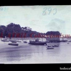 Postales: BAYONA, PONTEVEDRA CLICHE ORIGINAL NEGATIVO EN CELULOIDE AÑOS 1910-20 - FOTOTIP. THOMAS, BARCELONA. Lote 268269784