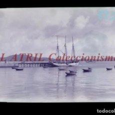 Postales: BAYONA, PONTEVEDRA CLICHE ORIGINAL NEGATIVO EN CELULOIDE AÑOS 1910-20 - FOTOTIP. THOMAS, BARCELONA. Lote 268269819