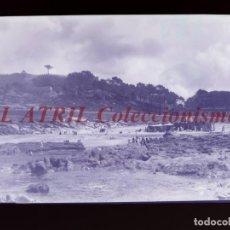Postales: BAYONA, PONTEVEDRA CLICHE ORIGINAL NEGATIVO EN CELULOIDE AÑOS 1910-20 - FOTOTIP. THOMAS, BARCELONA. Lote 268269984