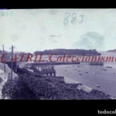 Postales: BAYONA, PONTEVEDRA CLICHE ORIGINAL NEGATIVO EN CELULOIDE AÑOS 1910-20 - FOTOTIP. THOMAS, BARCELONA. Lote 268270044