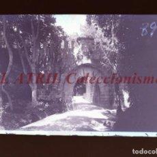 Postales: BAYONA, PONTEVEDRA CLICHE ORIGINAL NEGATIVO EN CELULOIDE AÑOS 1910-20 - FOTOTIP. THOMAS, BARCELONA. Lote 268270124