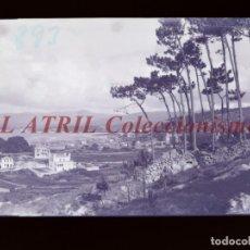 Postales: BAYONA, PONTEVEDRA CLICHE ORIGINAL NEGATIVO EN CELULOIDE AÑOS 1910-20 - FOTOTIP. THOMAS, BARCELONA. Lote 268270284